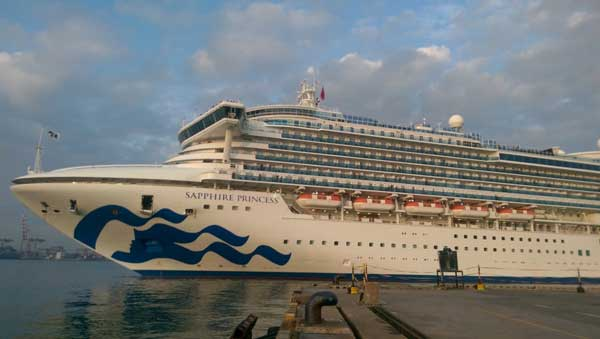 Three cruise liners ferry in over 7000 tourists to Sri Lanka